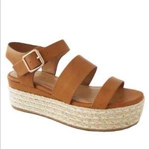 BAMBOO Women's Wedge Brown Sandal W/ Box